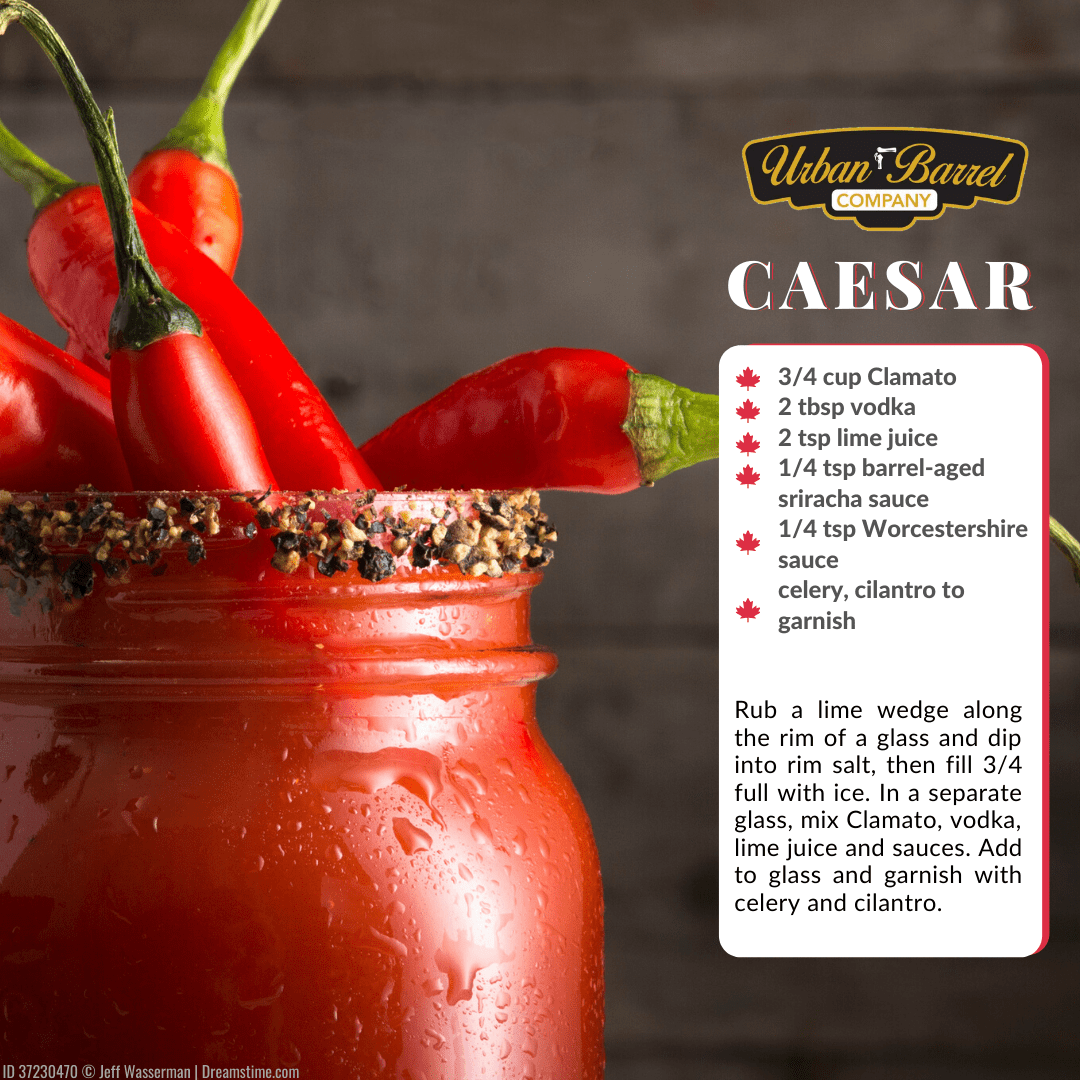 Barrel-Aged Hot Sauce and Caesar Recipe