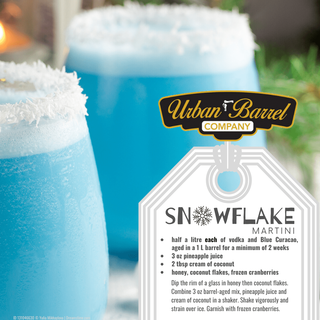 Snowflake Martini (Barrel-Aged)